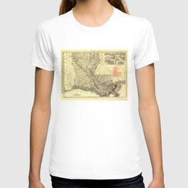 Map of Louisiana (1895) T-shirt