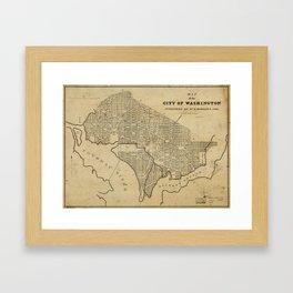 Map of the City of Washington, D.C. (1840) Framed Art Print