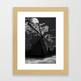 Haunted Windmill Framed Art Print