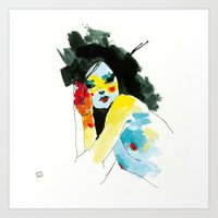 musa Art Prints featuring MUSA 292 by conrad roset