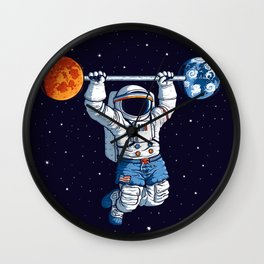 Space Gym  Wall Clock