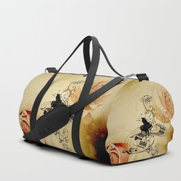 Music, piano with clef Duffle Bag