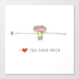 I love tea boy Canvas Print