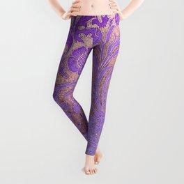Wiiliam Morris revamped, art nouveau pattern Leggings