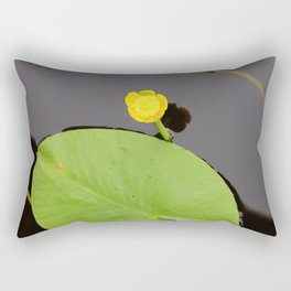 Yellow waterlily with lily pad Rectangular Pillow