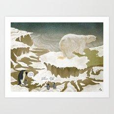 Climate change Art Print