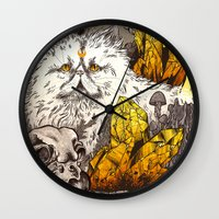 witchcraft Wall Clocks featuring Witchcraft by Angela Rizza