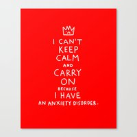 posters Canvas Prints featuring i broke an promise to myself to never make one of these stupid posters by gemma correll
