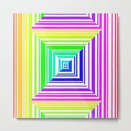 barcode. 1 rainbow Metal Print