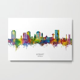 Hobart Australia Skyline Metal Print