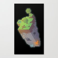 Minecraft Trixel Canvas Print
