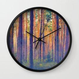 Forest - Filtering light Wall Clock