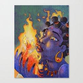 Fire Maiden Canvas Print