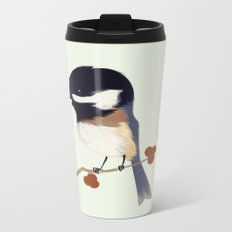 Chickadee Metal Travel Mug