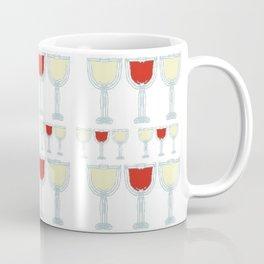 Wine Glass Pattern Coffee Mug