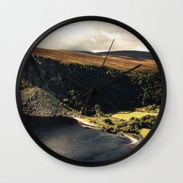 Irish Black Water - Lough Tay Wall Clock