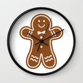 Gingerbread Hugs Wall Clock