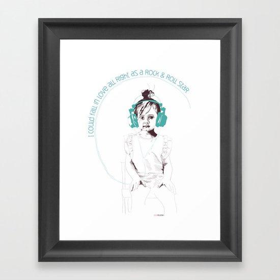 RocknRoll Girl Framed Art Print