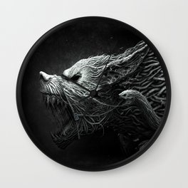 Wolf Monster Wall Clock