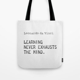 Leonardo da Vinci quote 5 Tote Bag