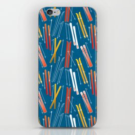Colorful Ski Pattern iPhone Skin