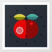 apple clock Art Print