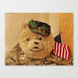 Teddy Bear In Uniform Canvas Print