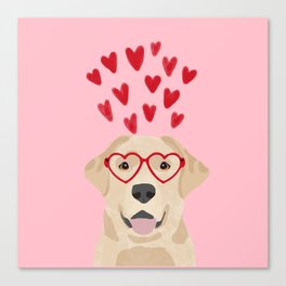 Yellow Lab valentines day labrador retriever dog breed must have gifts retrievers Canvas Print
