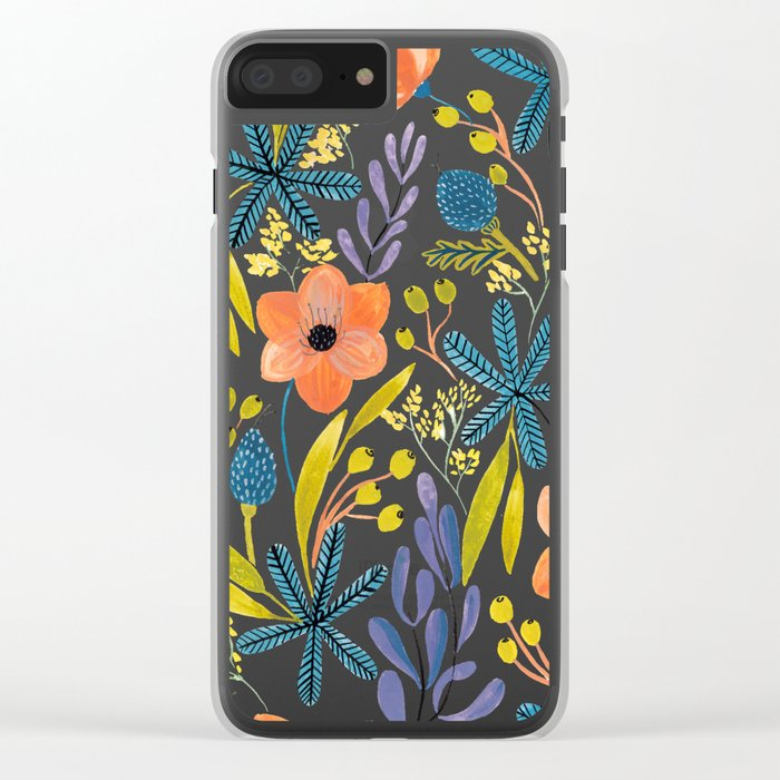 July Flowers Clear iPhone Case