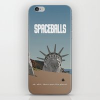 planet of the apes iPhone & iPod Skins featuring Spaceballs: Planet of the Apes by Preston Porter