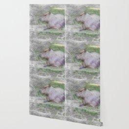 Artistic Animal capybara Wallpaper