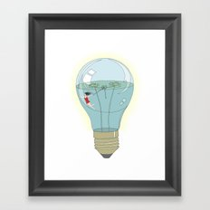 Life in a lightbulb. Day Framed Art Print