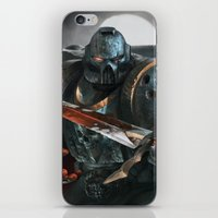 warhammer iPhone & iPod Skins featuring Warhammer Soldier by Tom Lee