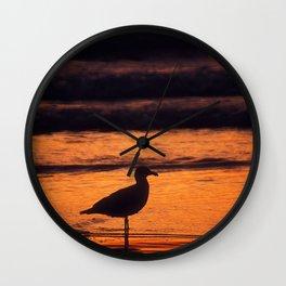 Gull at Rockaway Beach Wall Clock