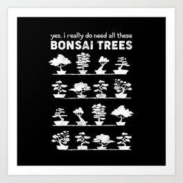 Bonsai Tree Care Penjing Gardening Gift Art Print