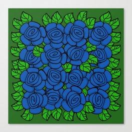 Blue Roses Canvas Print