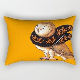 Happy Owl-o-Ween (Barn Owl) Rectangular Pillow