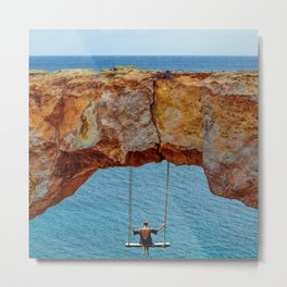 Wander Woman Rock Swing Metal Print