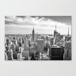 New York City Cityscape (Black and White) Canvas Print