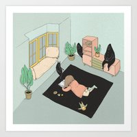 fairy tale Art Prints featuring Fairy tale by Cami