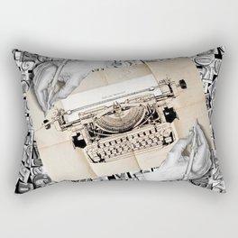 Drawing Hands and Writing Hands Rectangular Pillow