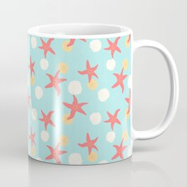 Salish Starfish in Aqua Coffee Mug