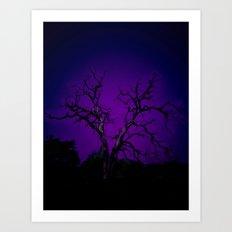Biloxi tree blue Art Print