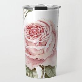 Pink Roses – Original Watercolor Travel Mug
