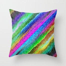 Colorful digital art splashing G478 Throw Pillow