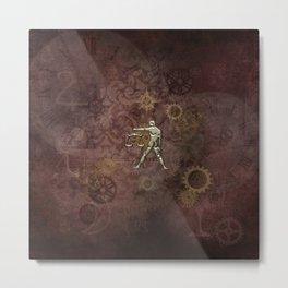 Steampunk Zodiac  Libra Metal Print