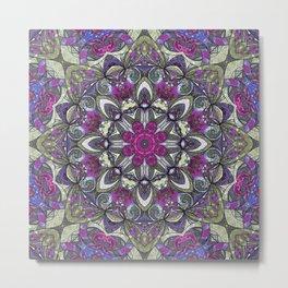 Mandala Geometric Flower G415 Metal Print