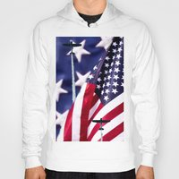 america Hoodies featuring America by TexasArt