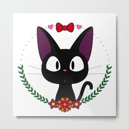 Little Black Cat Metal Print