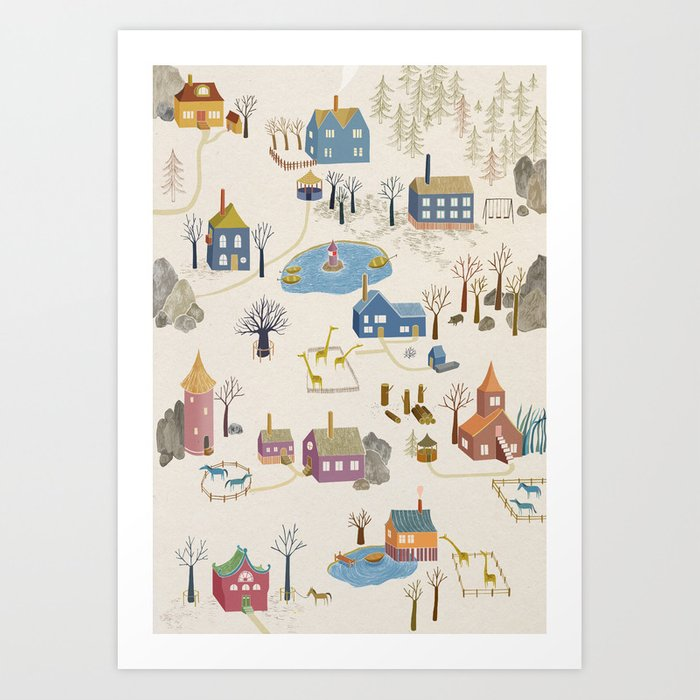 Little Village Art Print